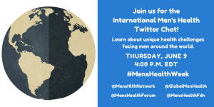 International Men's Health Twitter Chat @ #MensHealthWeek