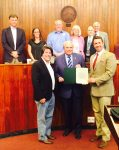 Oak Ridge, TN Mayor Warren Gooch and the City Council proclaim Men's Health Week 2016 with MHN's George Bove and Mike Leventhal